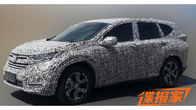 Honda's next-gen CR-V shot testing in China