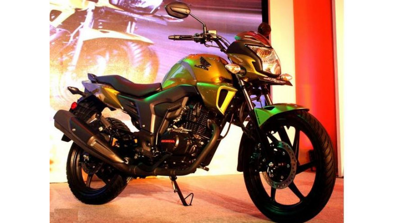 Honda showcases its new 150 cc CB Trigger bike for Indian market