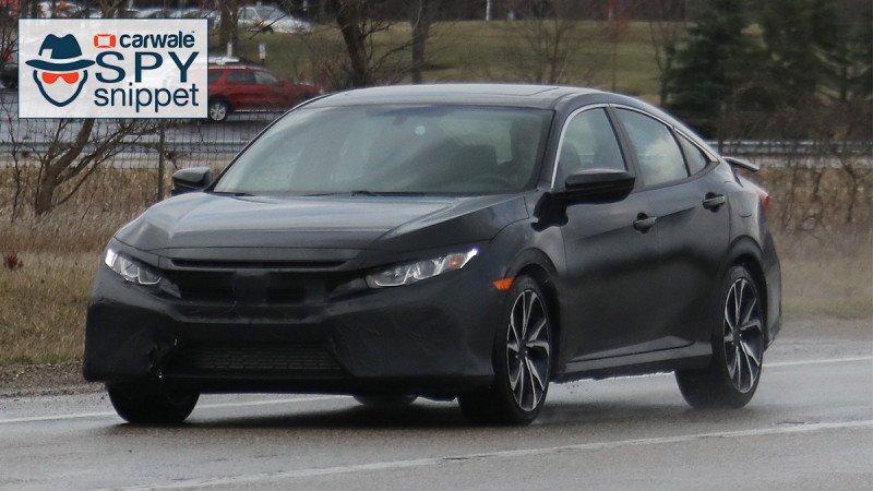 Camouflaged Honda Civic Si with four doors spotted