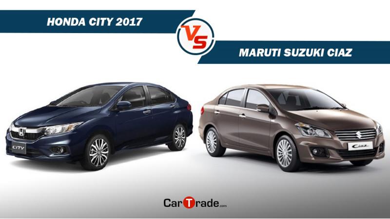 Honda City Vs Maruti Suzuki Ciaz spec comparison