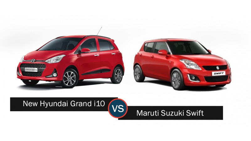Maruti Suzuki Swift Vs Hyundai Grand i10 spec comparison