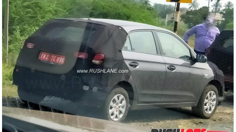Facelifted Hyundai Elite i20 AT variant spotted on test