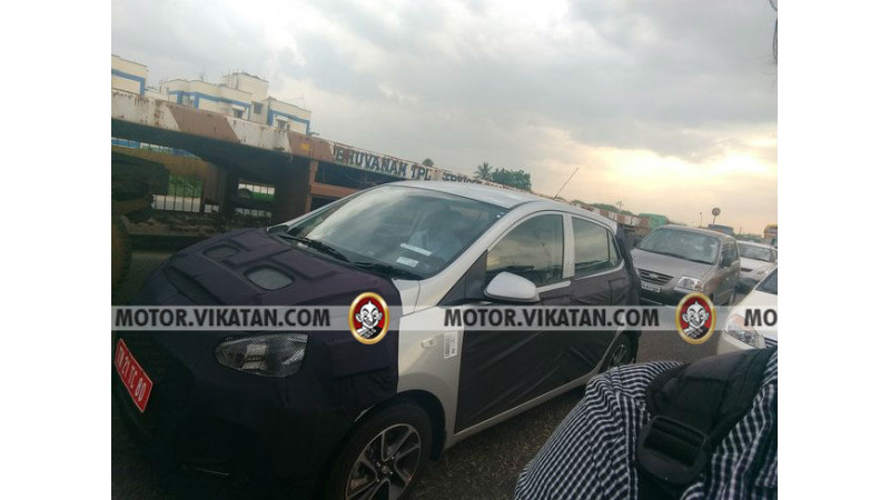 Hyundai Grand i10 facelift spotted testing in Chennai