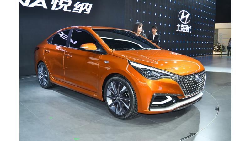 Hyundai unveils Verna concept at the Beijing Motor Show