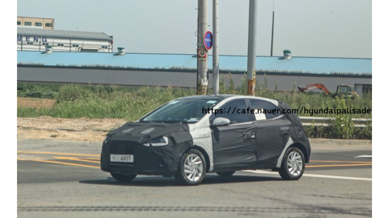 New-generation Hyundai Grand i10 spied testing