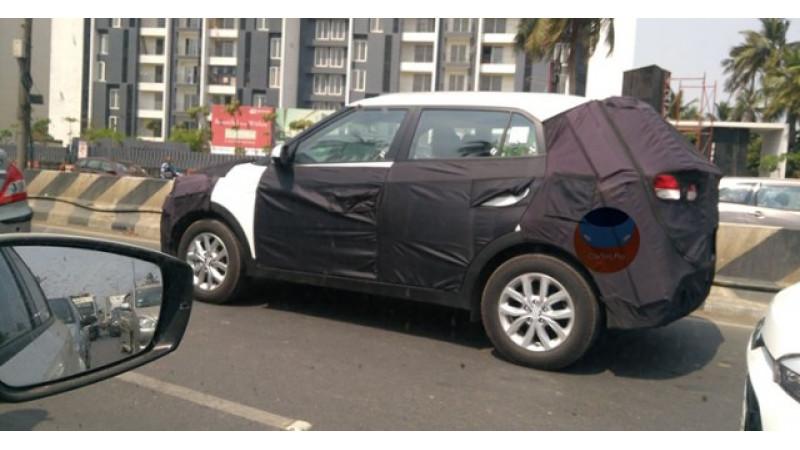 Facelifted Hyundai Creta spied testing
