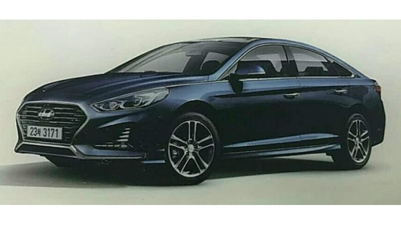 Facelifted Hyundai Sonata's official picture leaks