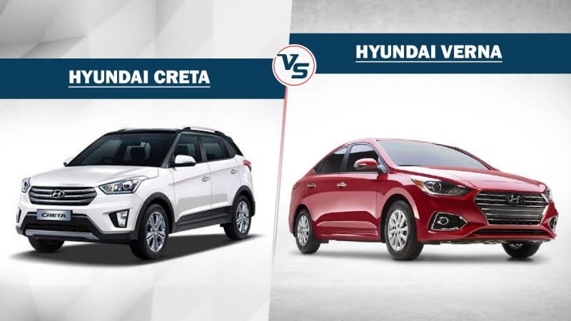 Hyundai Verna Vs Hyundai Creta - Variants compared