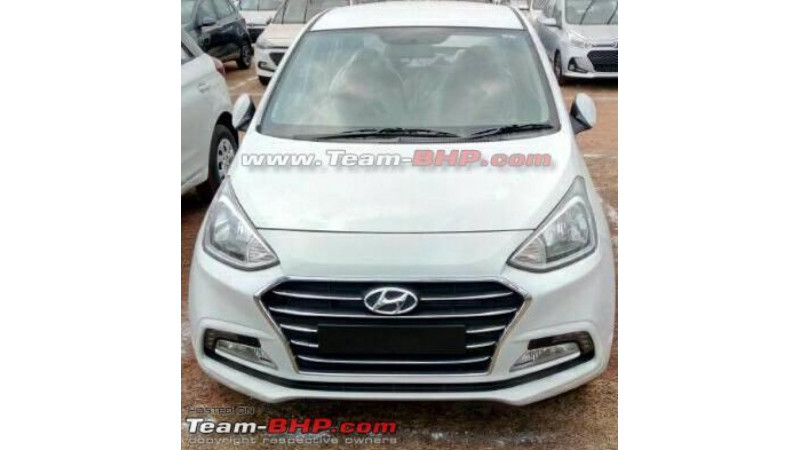 2017 Hyundai Xcent facelift spotted undisguised
