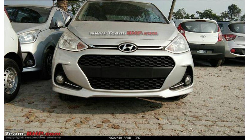 Facelifted Hyundai Grand i10 spotted without camouflage ahead of launch
