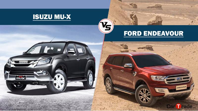 Spec comparison: Isuzu MU-X vs Ford Endeavour