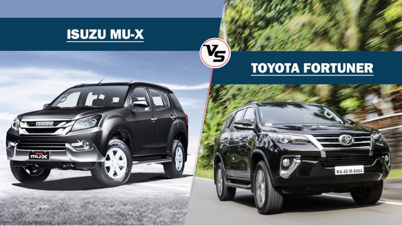 Spec comparison: Isuzu MU-X Vs Toyota Fortuner