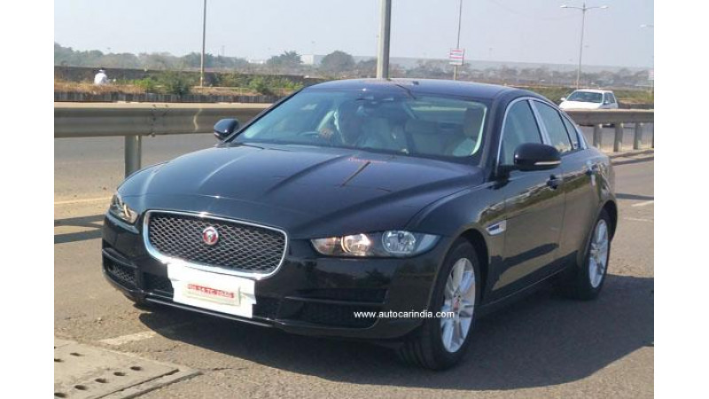 Jaguar XE spotted in India ahead of official launch in 2016 Auto Expo