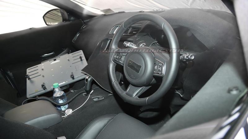 Cabin of Jaguar E-Pace spied