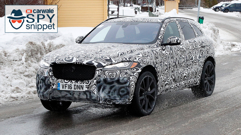 Jaguar F-Pace SVR spied for the second time