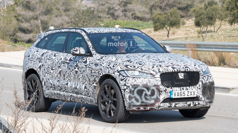 Jaguar F-Pace SVR caught testing with camouflaged exteriors