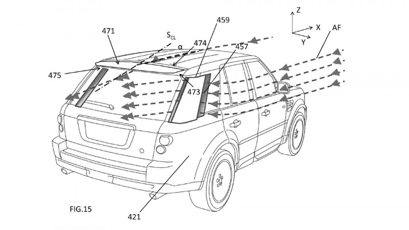 JLR trademarks aero design tricks for its future range