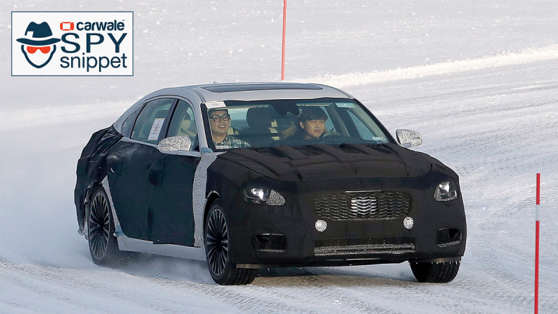 Kia testing the new-gen K9, caught testing for the first time