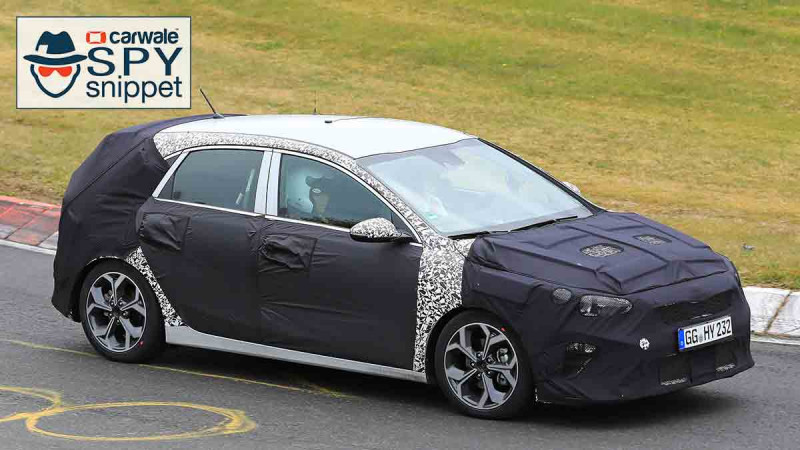 All new Kia C'eed spied testing on the Nurburgring