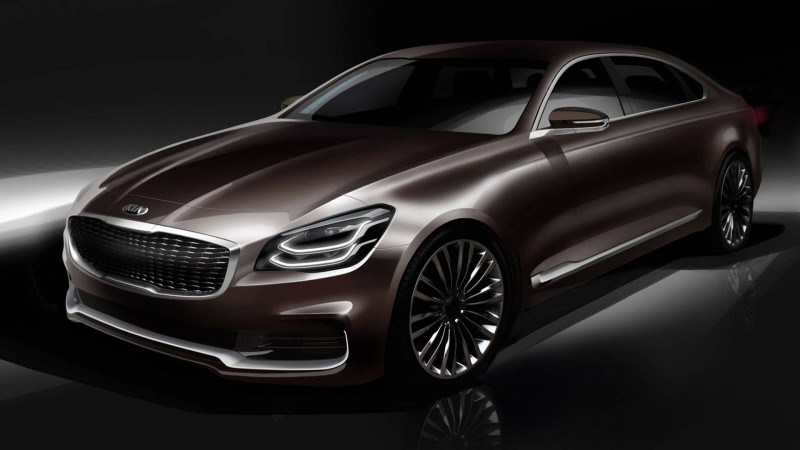 Kia K900 teased in design sketches