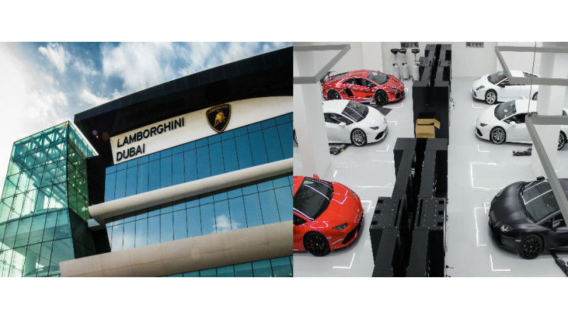 Lamborghini opens their biggest showroom in Dubai
