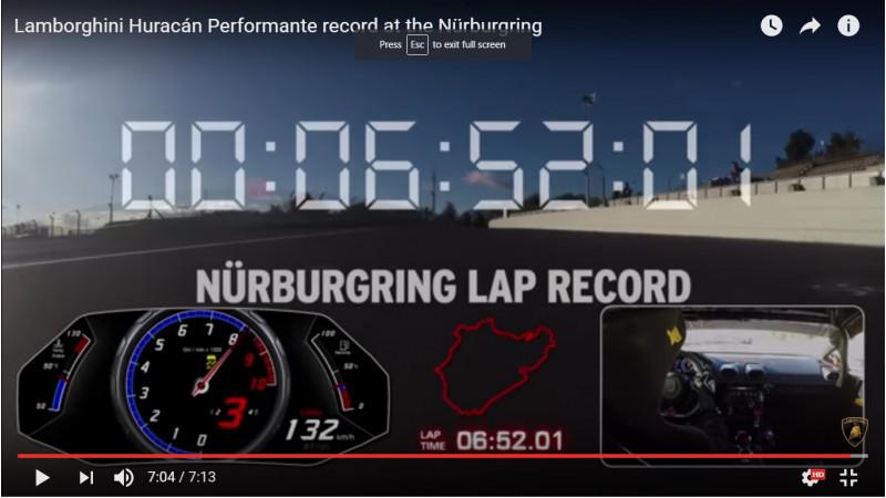 Lamborghini Performante sets new record at Nurburgring