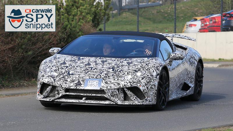 Lamborghini continues testing their Huracan Performante Spyder