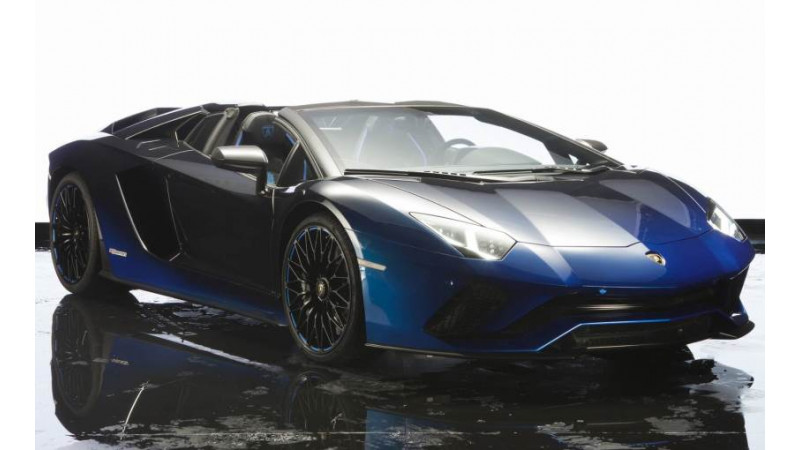 Lamborghini showcases Aventador S Roadster 50th Anniversary Japan