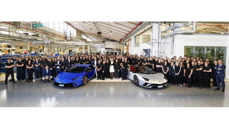 Lamborghini celebrates sales milestones of the Huracan and Aventador