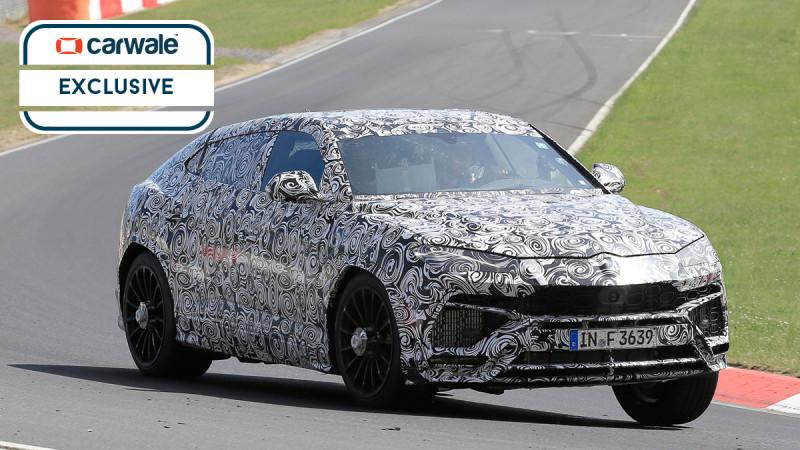 Lamborghini Urus spied in action at Nurburgring