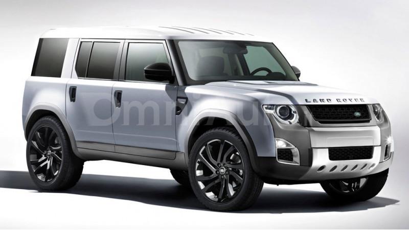 Land Rover's new Defender rendered