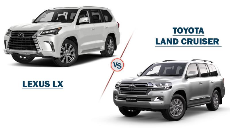 Lexus LX Vs Toyota Land Cruiser
