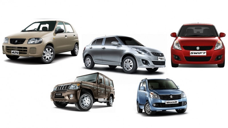List of top 10 best-selling cars in the 2015-2016 fiscal
