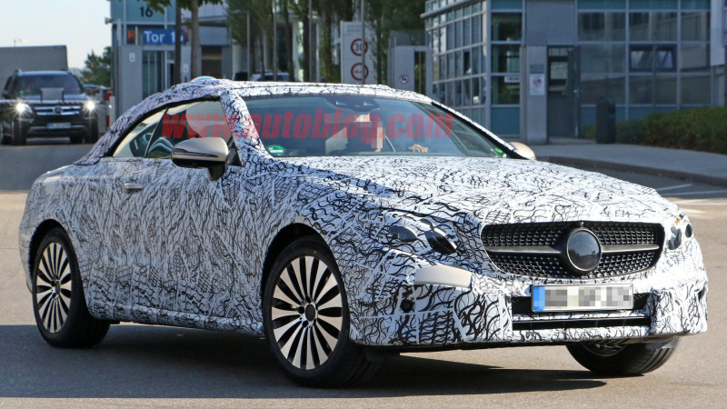 MB's new E-Class Cabriolet spotted testing