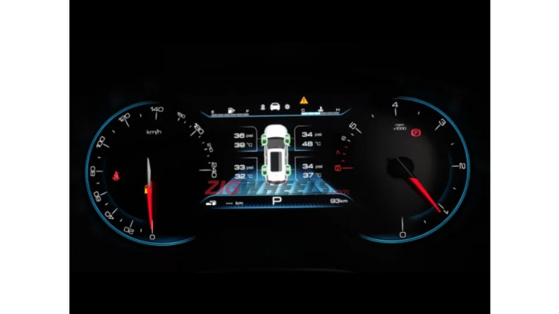 Instrument cluster of MG Hector leaked
