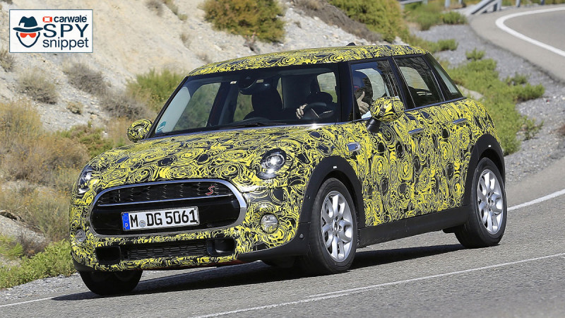 2018 Mini Cooper S 5-door spotted testing