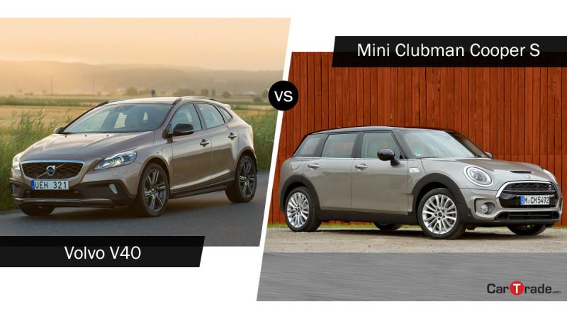 Mini Clubman Cooper S Vs Volvo V40 Cross Country: Spec comparison