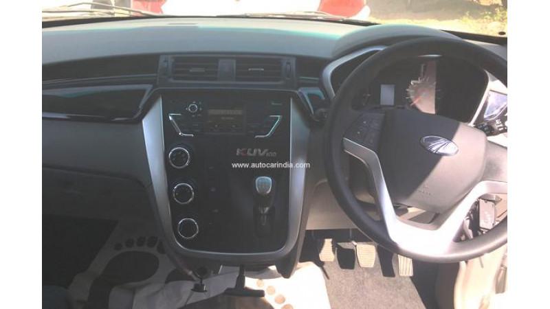 Mahindra KUV100 interiors spied