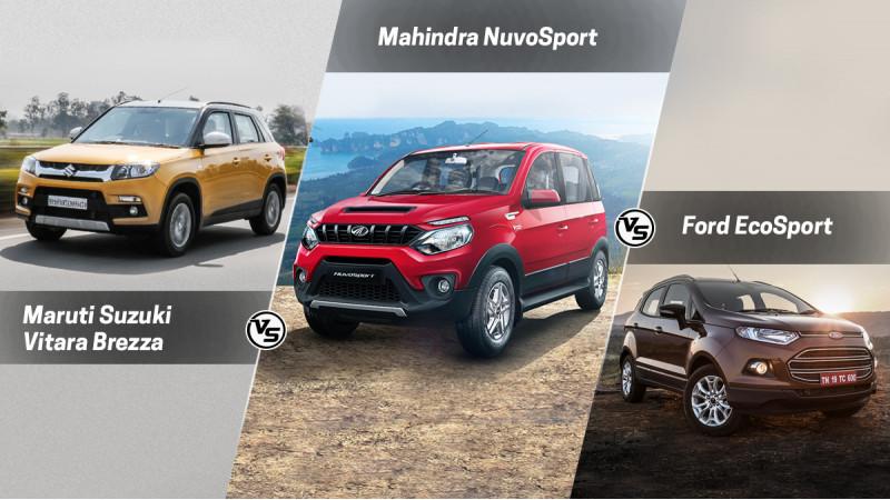 Spec comparo: Mahindra NuvoSport Vs Maruti Suzuki Vitara Brezza Vs Ford EcoSport