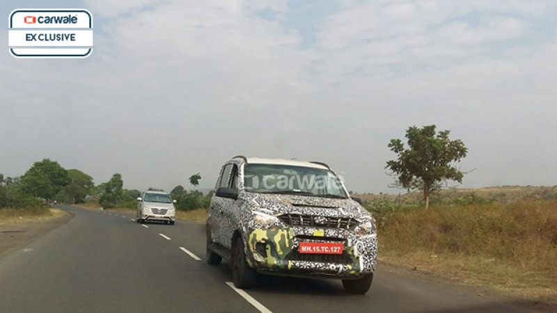 Mahindra Quanto facelift spotted on test near Nashik