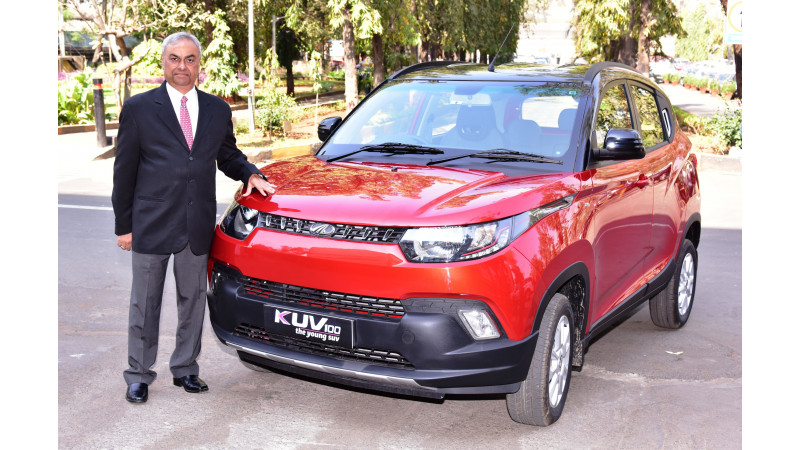 Mahindra launches the KUV100 anniversary edition in India