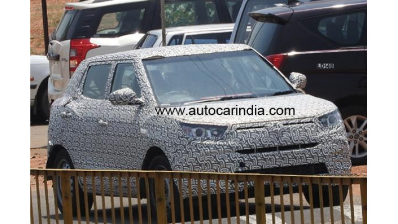 New D-segment crossover from Mahindra spied