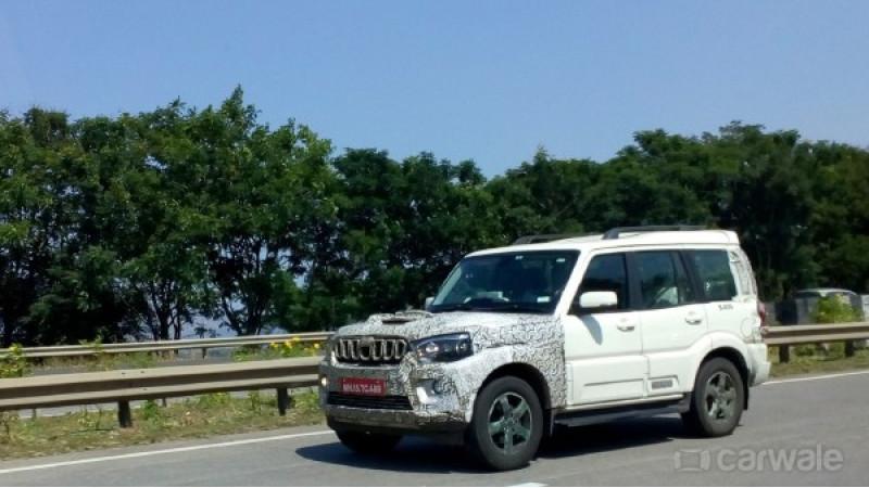 Upcoming Mahindra Scorpio facelift spyshots reveal changes