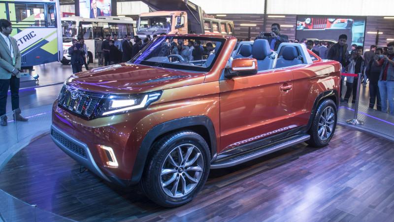 Top cars at the Mahindra stall at Auto Expo 2018