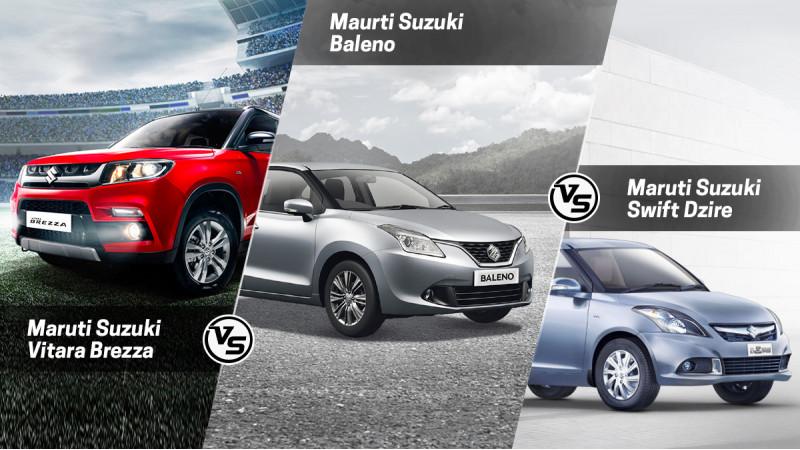 Maruti Suzuki Vitara vs Swift Dzire vs Baleno: Spec Comparison