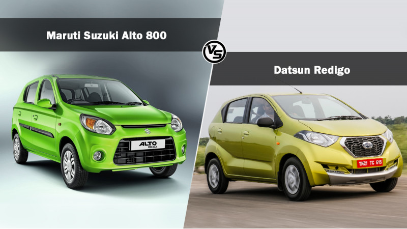 Spec comparo: Datsun Redigo Vs Maruti Suzuki Alto 800