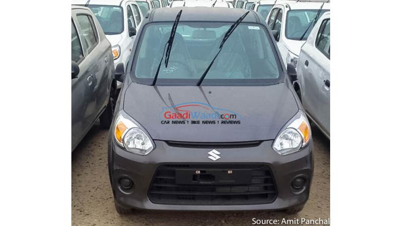 Maruti Suzuki Alto 800 facelift spied