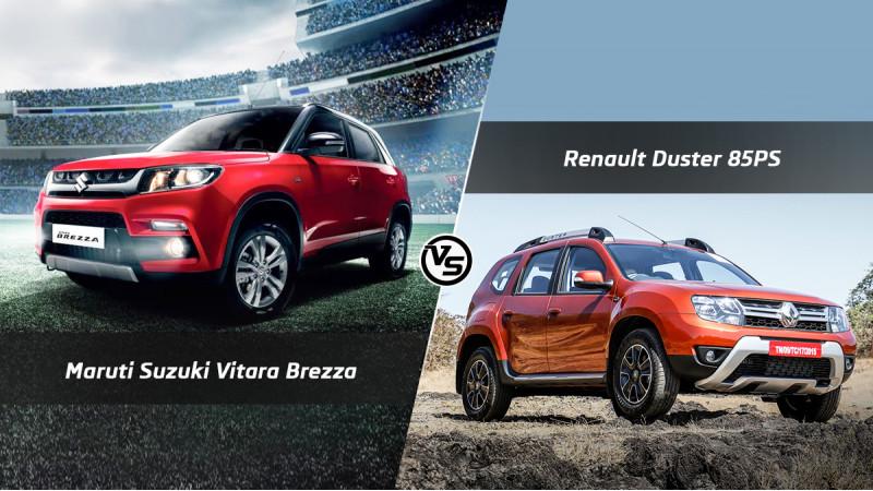 Maruti Suzuki Vitara Brezza Vs Renault Duster 85PS: Spec Comparo