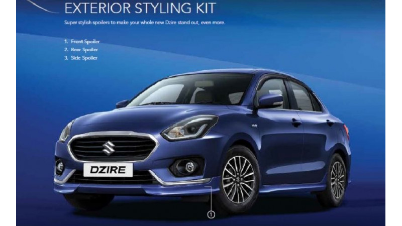 2017 Maruti Suzuki Dzire gets styling packages