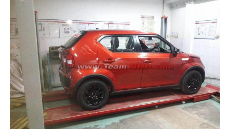 Maruti Suzuki Ignis spotted uncamouflaged ahead of official launch